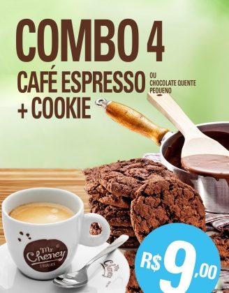 (Morumbi Town) Combo Cookie + Café Espresso por R$ 9,00