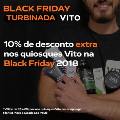 Black Friday Turbinada Vito: 10% a mais de desconto nas promoções!