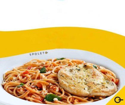 Spaghetti + Filé de Frango + Bebida por apenas R$ 22,90! (Jardim Paulista)