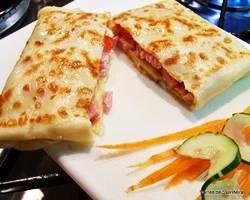 Crepe de presunto com queijo + Refrigerante + Petit Gâteau por apenas R$ 28,00!