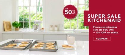 Liquidação de 50% OFF + 20% OFF em todos os produtos no site da KitchenAid