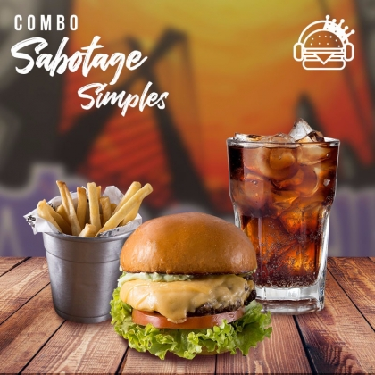 Lanche ao Sabotage + Batata Individual + Refrigerante por apenas R$ 28,00!