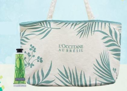 Cupom: GANHE uma Bolsa Exclusiva e um Creme de Mão em compras pelo site da L'occitane