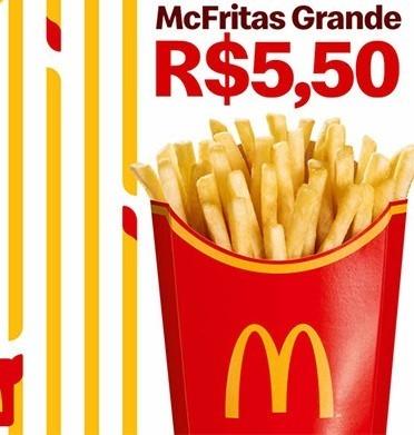 McFritas Grande por apenas R$ 5,50!