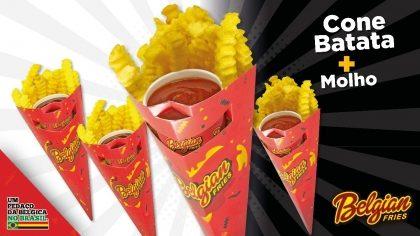 Cone de Batata + Molho Ketchup ou Cheddar por apenas R$ 6,99!