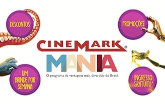Adquira o Cinemark Mania, GANHE um ingresso grátis e aproveite os brindes exclusivos!