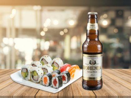 Bohemia Long Neck + 16 peças de Sushi por apenas R$ 23,50! [+18]