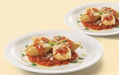 Dois pratos de Conchiglione de Quatro Queijos ao Sugo por apenas R$ 16,90!