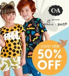 Liquida de até 50% OFF em roupas infantis no site da C&A