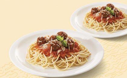 Dois pratos de Espaguete com Almôndegas ao Sugo por apenas R$ 16,90!