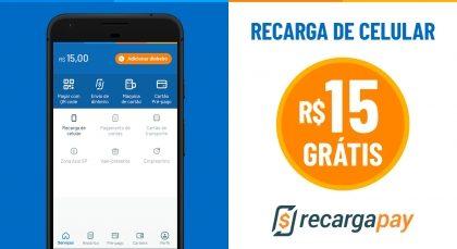 Cupom de R$15 OFF em Recarga de Celular para novos usuários RecargaPay!