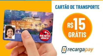Cupom de R$15 OFF em Recarga de Cartão Transporte para novos usuários RecargaPay!