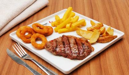 Bife Chorizo grelhado + 3 Acompanhamentos por apenas R$ 27,90!