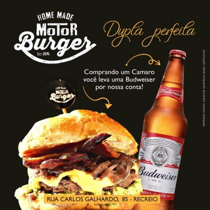 Hambúrguer + Budweiser