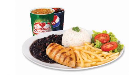 Filezinho + Arroz + Feijão + Fritas ou Purê + Salada + Refrigerante por R$ 18,90!