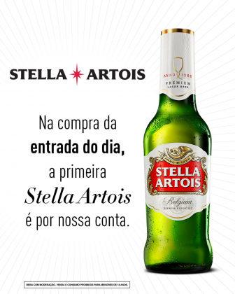Na compra de uma entrada ganhe uma Stella!