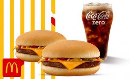 2 Cheeseburger + Bebida 500ml por apenas R$ 12,90!