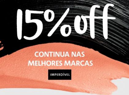 15% OFF em TODO O SITE da Sephora