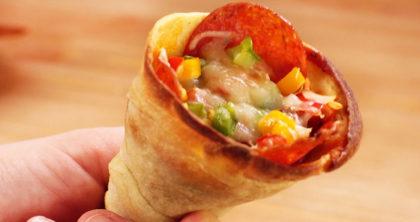 Pizza Cone Doce ou Salgada + Refri por apenas R$ 18,00!