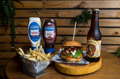 Combo R$ 36,90: Maple Burger + Batata Frita + Cerveja Madalena Long Neck! [+18]