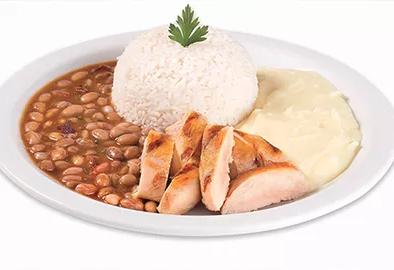 Isca de Frango + Arroz com Feijão + Fritas ou Purê + Refrigerante por R$ 10,90!
