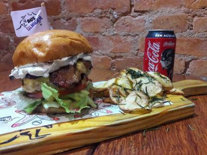 Combo Sidney Duplo: 2 Hambúrgueres + Batata + 2 Bebibas por R$ 59,90!