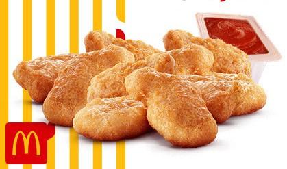 Chicken McNuggets (10 unid) + Molho por apenas R$ 9,90!