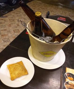 GANHE 1 Pastel na compra de 1 balde de Cerveja Original (3 unid)