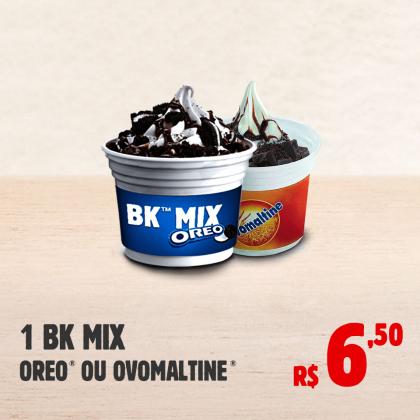 1 BK Mix Oreo ou Ovomaltine por apenas R$ 6,50!