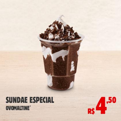 Sundae Especial Ovomaltine por apenas R$ 4,50!
