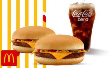 2 Cheeseburger + Bebida por apenas R$ 12,90!