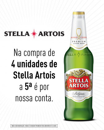 Leve 5 pague 4 – Stella Artois 550ml