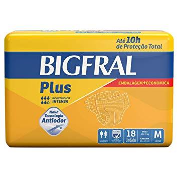 Fralda Geriátrica Bigfral Plus Tamanho M-18 e G-16 com 5% de desconto!