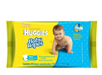 Lenço Umedecido Huggies Baby (48 unidades) com 15% de desconto!