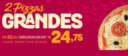 Compre 2 Pizzas Grandes por apenas R$ 27,75 cada! (Delivery)