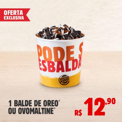 1 Balde Sorvete Oreo ou Ovomaltine por apenas R$ 12,90!