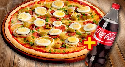 Super Combo: Pizza Grande + Refrigerante 1,5 Litros por apenas R$ 42,00!