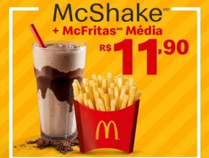 McShake + McFritas Média por apenas R$ 11,90!