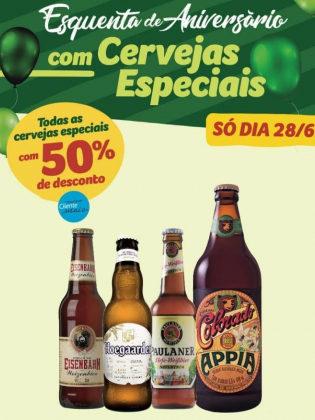 Lojas Físicas: TODAS as Cervejas Especiais com 50% de desconto! [+18]