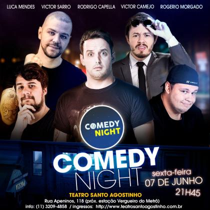 COMEDY NIGHT: Ingressos por apenas R$20!