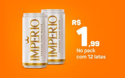 Império 269ml por apenas R$ R$ 1,99 a unidade na compra do pack!