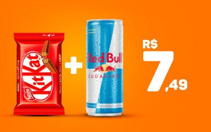 Red Bull Free Sugar + Kit Kat por apenas R$ 7,49!