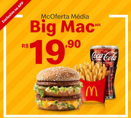 McOferta Média: Combo Big Mac por apenas R$ 19,90!