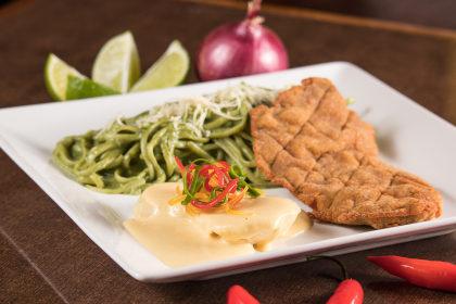 Menu Executivo: Milanesa de carne + Batatas Huancaina por apenas R$23,90!