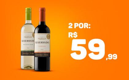 2 Vinho Concha y Toro Reservado por apenas R$ 59,99! (Indianópolis)