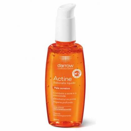 Sabonete Líquido Actine Pele Acneica 140ml com 25% de desconto!
