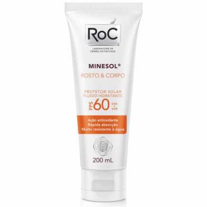 Protetor Solar Roc Minesol Corpo e Rosto FPS 60 200ml com 10% de desconto!
