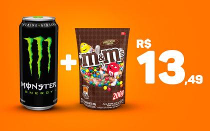 Monster + M&M's por apenas R$ 13,49!