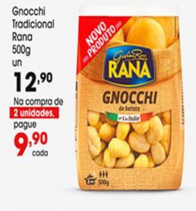 Gnocchi Tradicional Rana 500g por apenas R$ 9,90 na compra de 2 unidades!