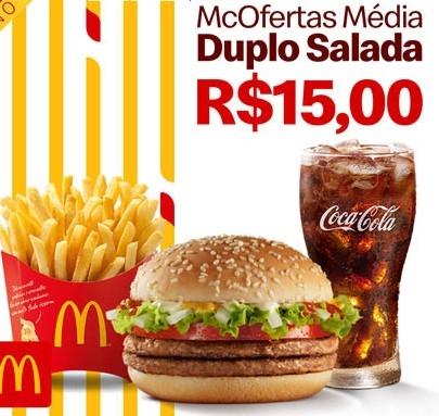 McOferta Média: Duplo Salada por apenas R$ 15,00!